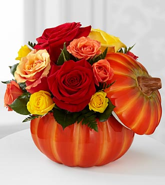 The FTD Bountiful Rose Flowers - VASE INCLUDED