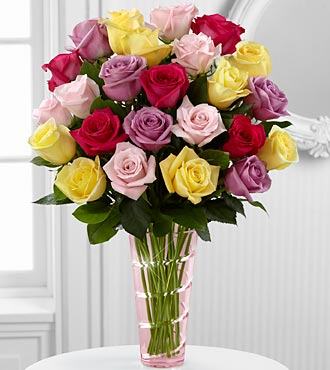 The Mixed Rose Bouquet by FTD® - VASE INCLUDED