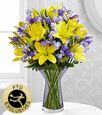 The Touch of Summer&reg; Bouquet by FTD&reg; - VASE INCLUDED