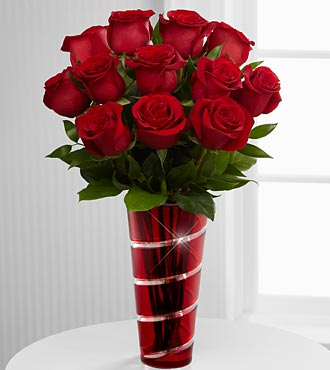 The In Love with Red Roses Flowers by FTD - VASE INCLUDED