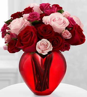 The My Heart to Yours™ Rose Bouquet by FTD® - VASE INCLUDED