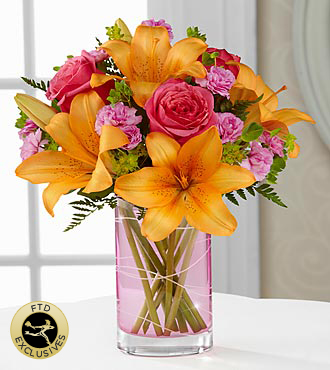 the ftd garden terrace bouquet vase included