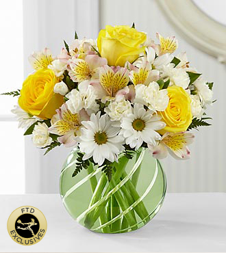 The Ftd 174 Sunlit Blooms Bouquet Vase Included