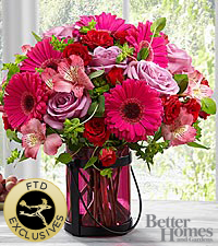 The FTD ® Pink Exuberance™Bouquet by Better Homes and Gardens ®