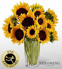 The FTD ® Golden Sunflower™ Bouquet by Vera Wang