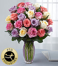 The FTD ® Mother 's Day Mixed Rose Bouquet -VASE INCLUDED