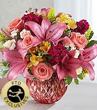 The FTD ® Pink Poise™ Bouquet -VASE INCLUDED