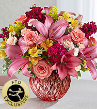 The FTD ® Pink Poise™ Bouquet - VASE INCLUDED
