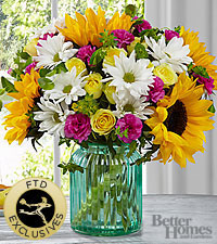 The FTD ® Sunlit Meadows™ Bouquet by Better Homes and Gardens ® -VASE INCLUDED