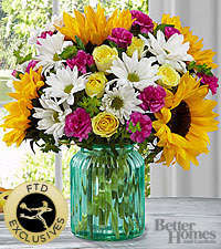 The FTD ®Sunlit Meadows™ Bouquet by Better Homes and Gardens ® - VASE INCLUDED