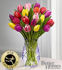 The FTD ® Spring Tulip Bouquet by Better Homes and Gardens ® -VASE INCLUDED