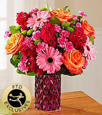 The FTD ® Brightly Bejeweled™ Bouquet -VASE INCLUDED
