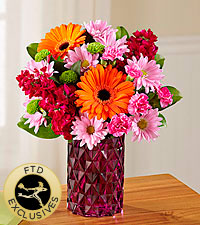 The FTD ® Brightly Bejeweled™ Bouquet-VASE INCLUDED