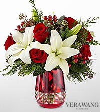 The FTD ® Festive Holiday™ Bouquet by Vera Wang