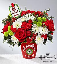 The FTD ® I 'll Jingle to That™ Bouquet by Hallmark
