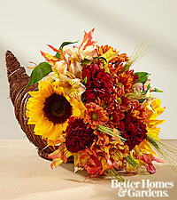 The FTD ® Fall Harvest™ Cornucopia by Better Homes and Gardens ®