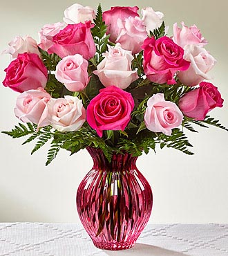 The FTD ® Happy Spring™ Mixed Rose Bouquet