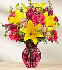 The FTD ® Happy Spring™ Bouquet - VASE INCLUDED