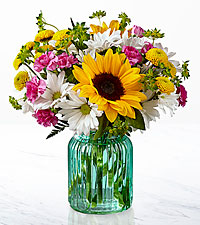 The FTD ® Sunlit Meadows ™ Bouquet-VASE INCLUDED