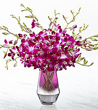 The FTD ® Pink at Heart ™ Orchid Bouquet-VASE INCLUDED
