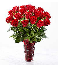 The FTD ® In Love with Red Roses™ Bouquet-VASE IINCLUDED