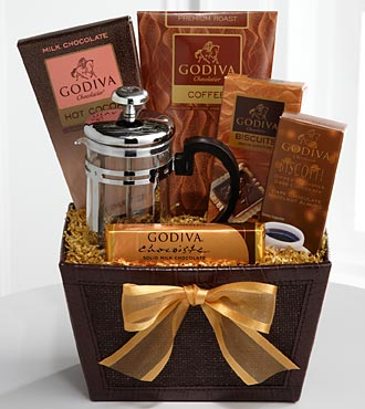 Buy chocolate gift baskets - Godiva Indulgences Coffee & Cocoa Gift Basket