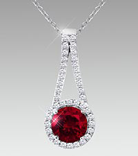 July Floral Jewels&#153; Birthstone Collection - Ruby