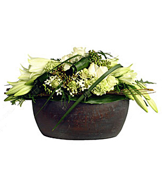 Cut Flower Arrangement with Bowl