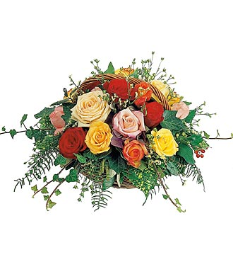 Basket of Assorted Roses
