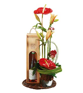 Wine with Flowers