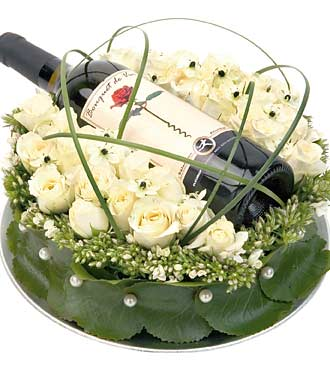 Arrangement with Wine