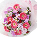 Seasonal Bouquet in Red and Pink