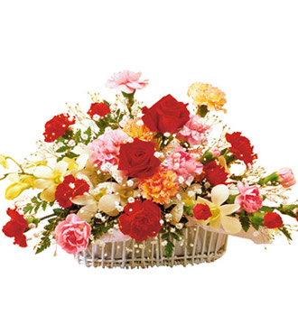 flower arrangement. perfect crescent flower arrangement, Beautiful flower