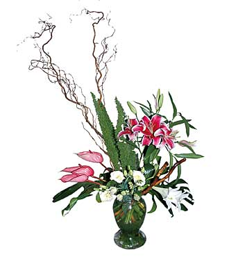 Vase Arrangement of Cut Flowers