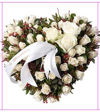 Funeral Spray with White Roses