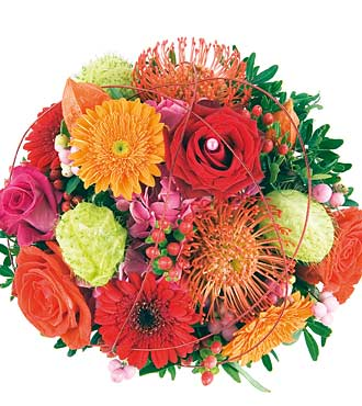 Bouquet of Mixed Color Flowers