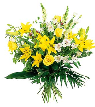 Yellow & White Flower Bouquet