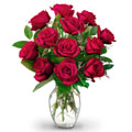 12 Red Long Stem Rose Bouquet