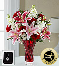 The FTD® Anniversary Bouquet with Pendant - VASE INCLUDED