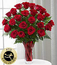 The FTD ® Anniversary Rose Bouquet - VASE INCLUDED