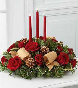 Christmas Centerpiece FTD Flowers Celebration of the Season Centerpiece