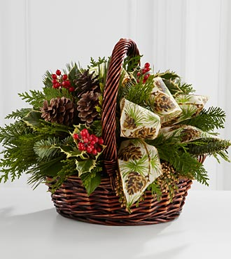 FTD Flowers Christmas Coziness Flowers - BASKET INCLUDED