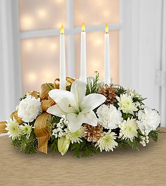 Christmas Centerpiece FTD Flowers Season's Glow Centerpiece