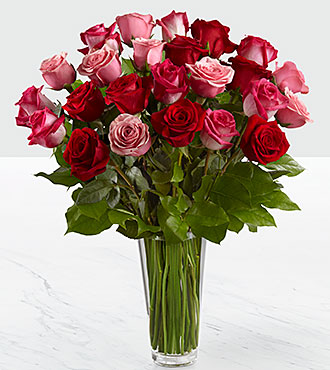 The True Romance&trade; Rose Bouquet by FTD&reg; - VASE INCLUDED