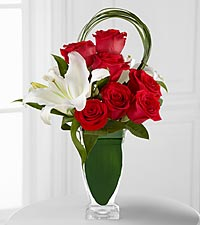 The Pure Passion&trade; Bouquet by FTD&reg; - VASE INCLUDED