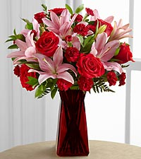 The Love Rushes In&trade; Bouquet by FTD&reg; - VASE INCLUDED