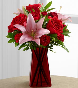 The Love Rushes In™ Bouquet by FTD® - VASE INCLUDED