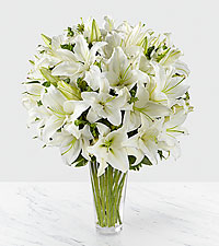 The Spirited Grace™ Lily Bouquet by FTD ® - VASE INCLUDED