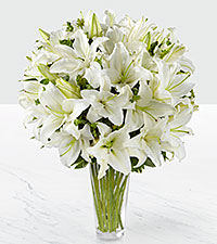 The Spirited Grace&trade; Lily Bouquet by FTD &reg; - VASE INCLUDED
