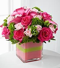 The Blushing Invitations&trade; Bouquet by FTD&reg; - VASE INCLUDED